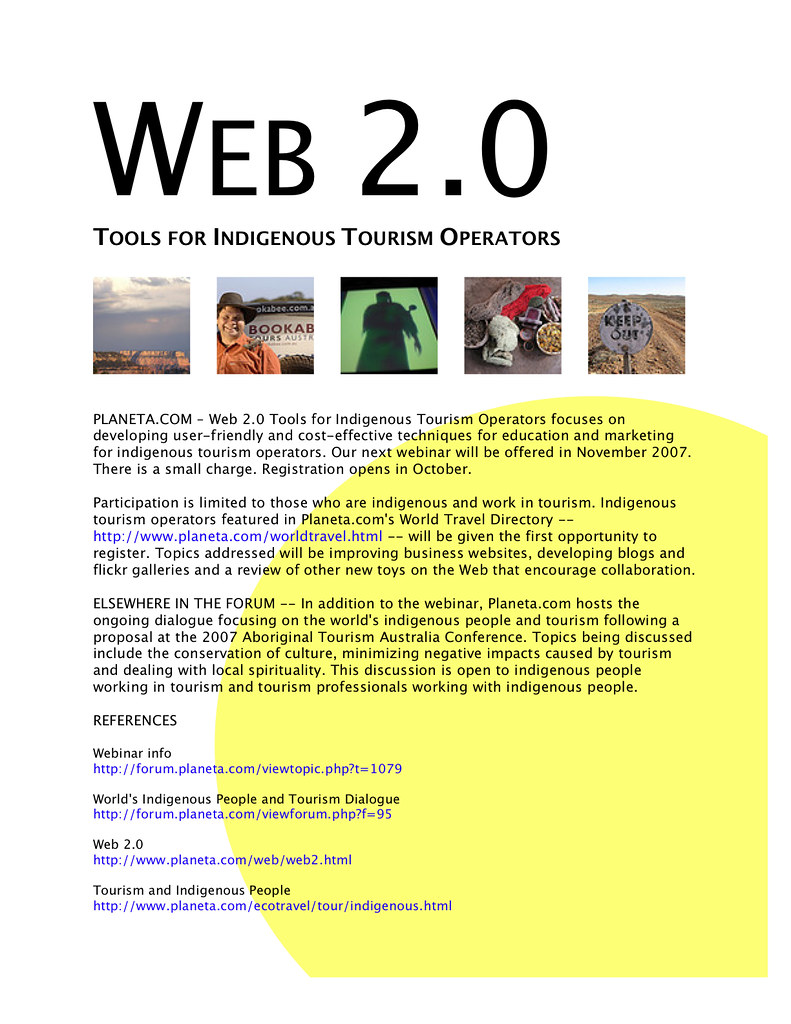 Web 2 0 Tools for Indigenous Artisans and Tourism Operator…   Flickr