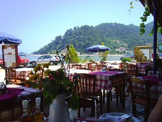 ACROSS THE TABLES. THASSOS. GREECE.