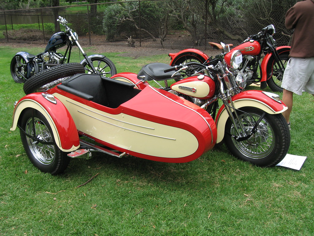 1947 Harley-Davidson with sidecar - a photo on Flickriver