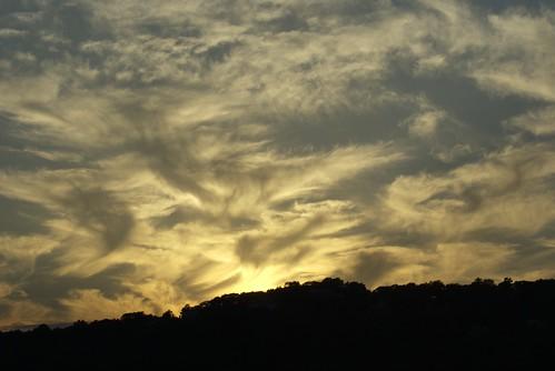 sunset sky clouds horsetails lakemohawk