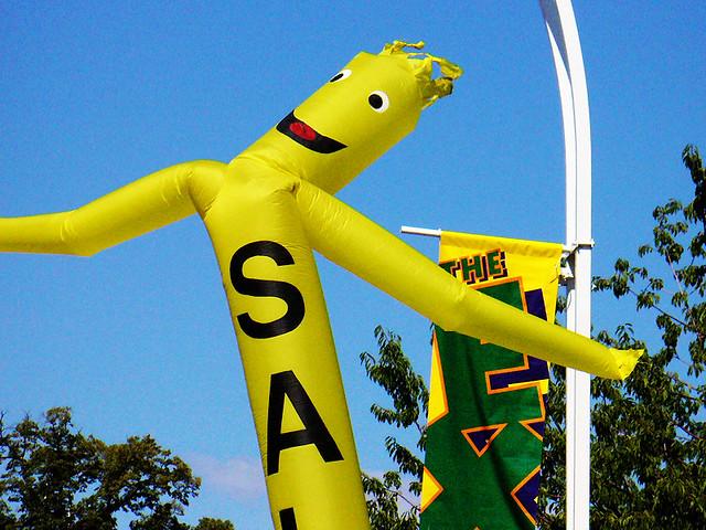 wacky waving inflatable arm flailing tube man dating video dinosaur
