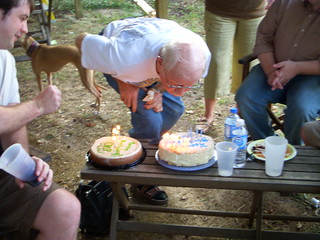 John blowing out candles