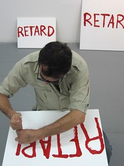 "MOMA PS1. ""Art = Retard"" PAINTING  ( art is delay )"