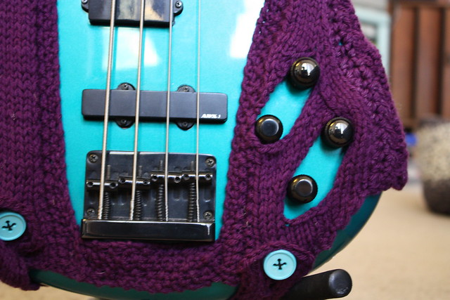 Knit Bass Guitar Cozy