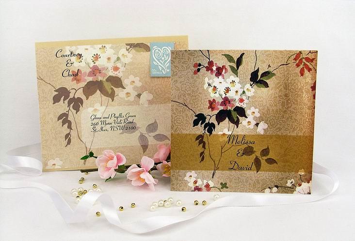 Oriental Blossoms Square Vertical Invitation Wedding Invit Flickr