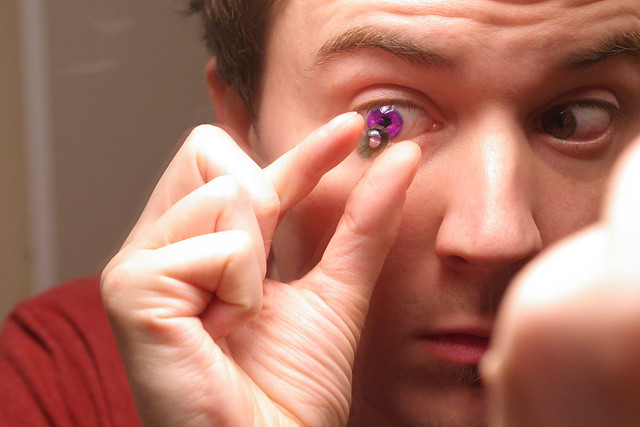 My husband has purple/brown hazel eyes. I did not know of ...