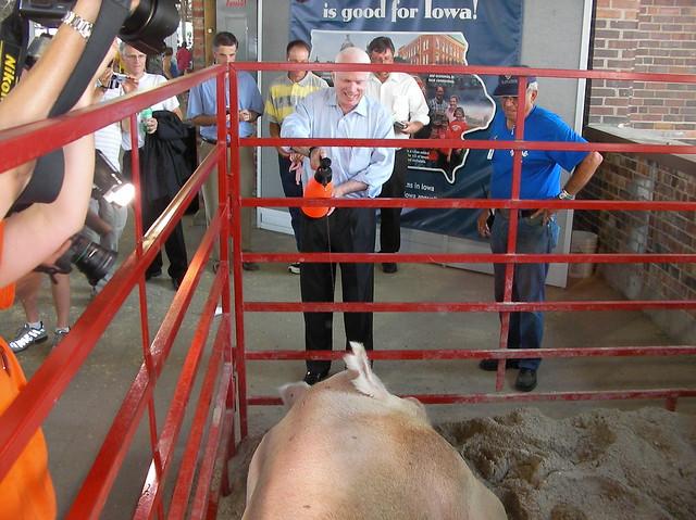 John McCain addresses Iowa pork