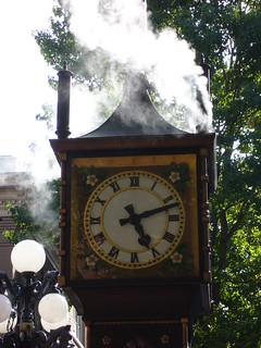 Image of Gastown Steam Clock near West End. canada vancouver britishcolumbia
