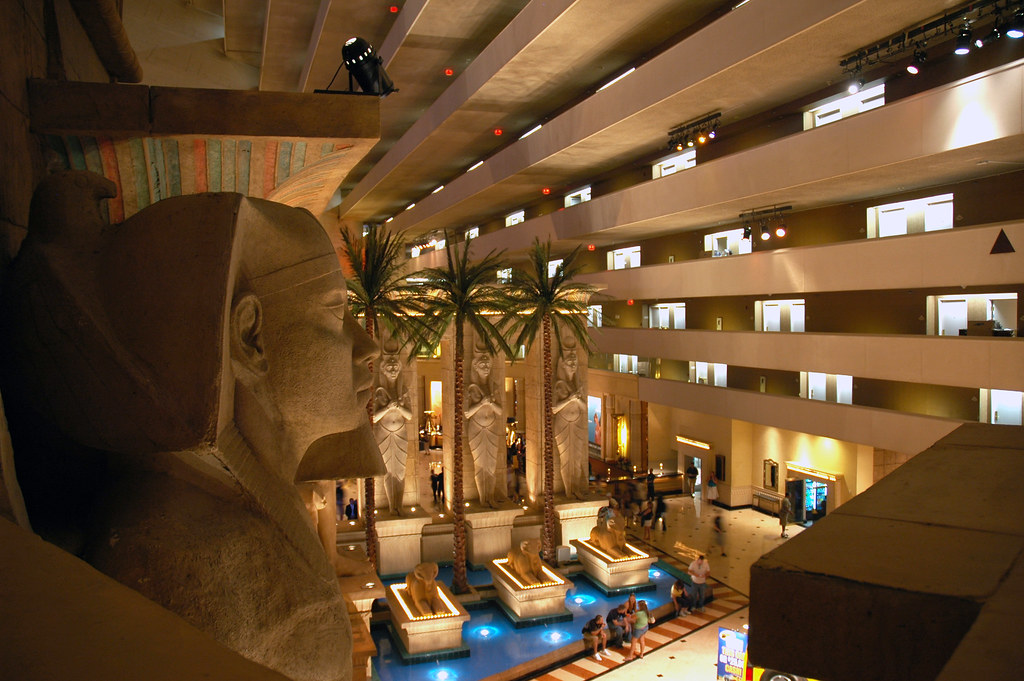 Luxor Hotel Amp Casino Interior Las Vegas Nevada A Photo