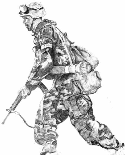 american soldier drawing - photo #11