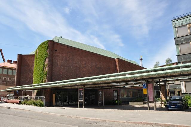 Exterior de la Casa de la Cultura de Helsinki
