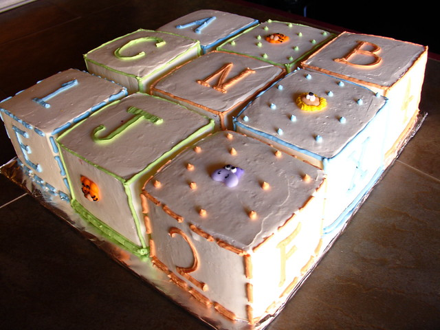 Custom building block cake