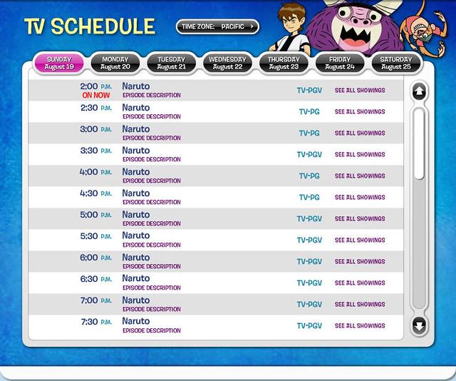 Cartoon Network schedule 2010-2011 - Cartoon Network TV series Images ...