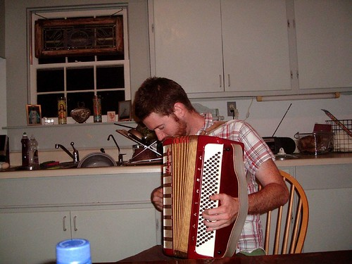 Brian Playing His Accordion