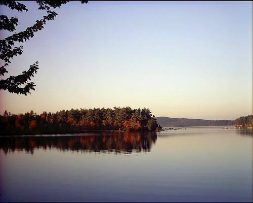 autumn lake fall leaves season woods october view maine belgrade talekinker tanyamiller freshlensphotography