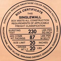 SC - Box Certificate