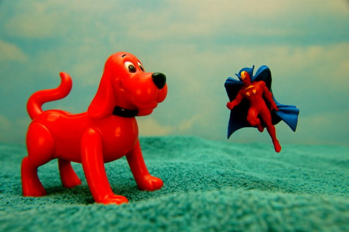 Clifford the Big Red Dog vs. Red Tornado (174/365)
