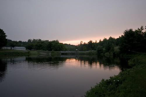 sunset lake ny water rotary malone