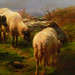 Rosa Bonheur, Sheep in the Highlands, detail with sheep grazing
