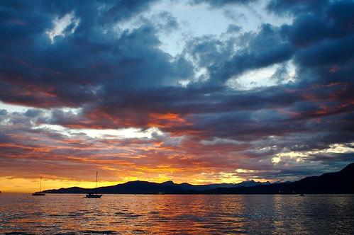 ocean sunset beach vancouver clouds boat explore kits sail