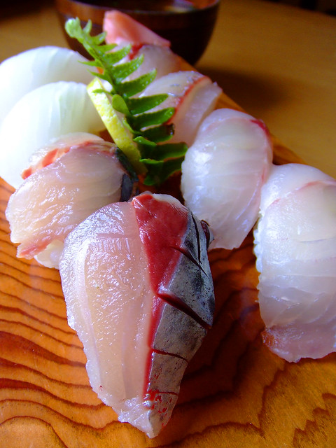 Sushi of local fish