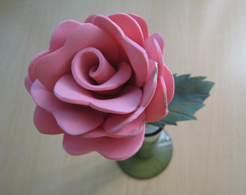 Rosas de goma eva faciles imagui - Flores con goma eva ...