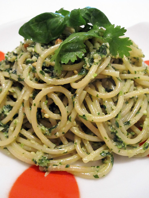 Vegan Basil & Cilantro Pesto Pasta | More Vegan/Vegetarian ...
