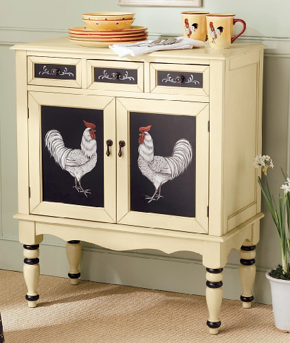 Hand Painted Kitchen Cabinets: Hand-Painted-Rooster-Cabinet-1_41751_lg