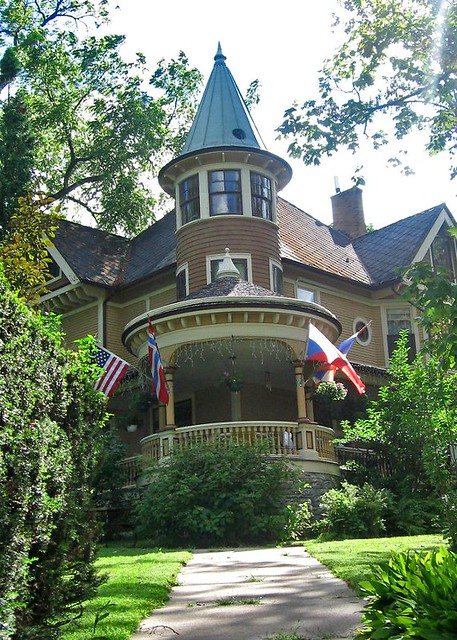 Victorian House With Round Tower And Veranda Decorah