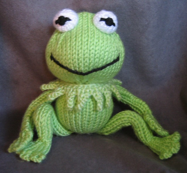 Knitted Frog Pattern : Kermit THE Frog with Frog Legs Flickr - Photo Sharing!