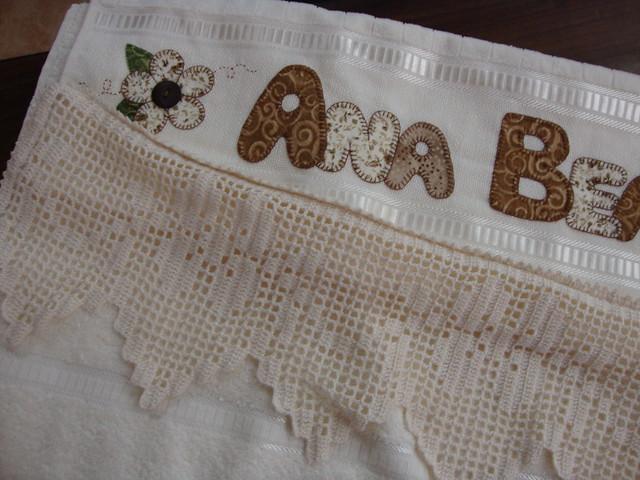 Toalha De Banho   Bico De Crochet
