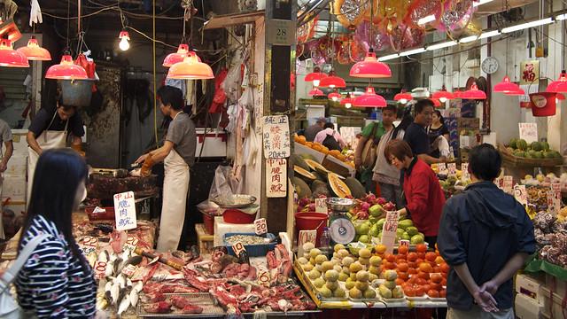 Wan Chai Market in Hong Kong - Flickr CC jimmckee