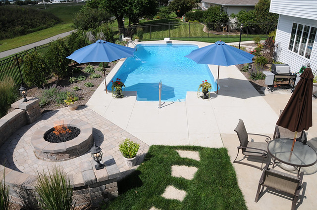 Pool and fire pit flickr photo sharing for Pool and firepit design