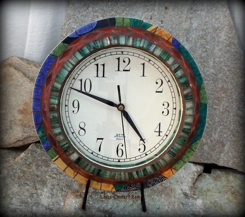 """""""Kellyswan"""" Mosaic Clock"""