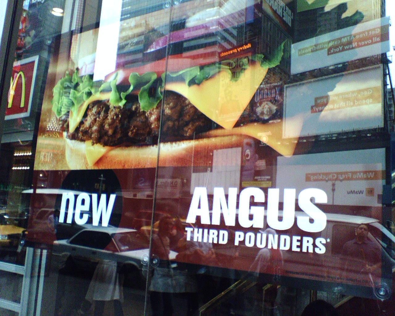 at lunch yesterday mcdonald s angus burger edition midtown lunch finding lunch in the food. Black Bedroom Furniture Sets. Home Design Ideas