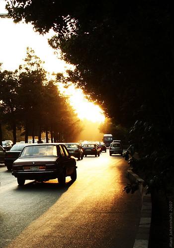 street sunset tehran diamondclassphotographer flickrdiamond chamranhighway