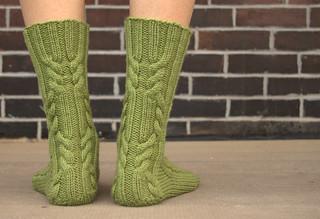 Ravelry log cabin socks pattern by anne woodbury for Warm cabin socks