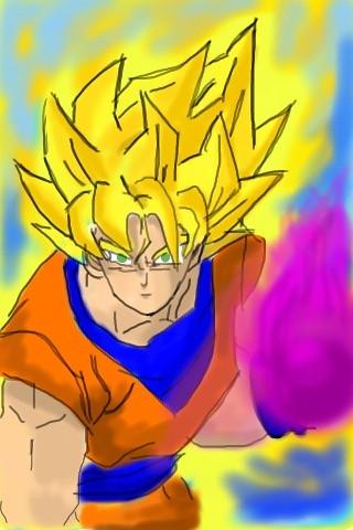 Son Goku SSJ3 charging kamehameha | Flickr - Photo Sharing!