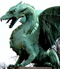 art, gargoyle, sculpture, fictional character, dragon, dinosaur, statue,