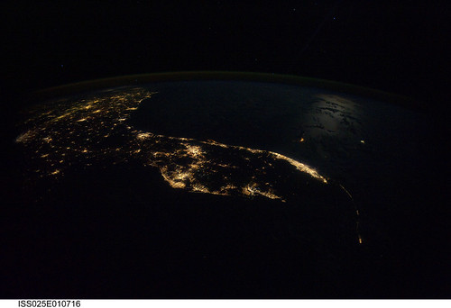 Florida at Night (NASA, International Space Station Science, 10/31/10)
