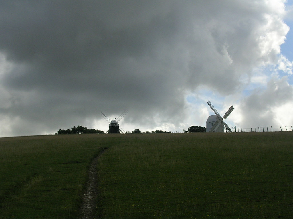 Jack and Jill Clayton windmills, Sussex