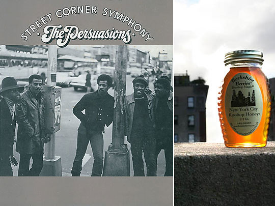 Left: The Persuasions; right: New York City Rooftop Honey
