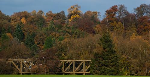 Autumn: Meccano bridge