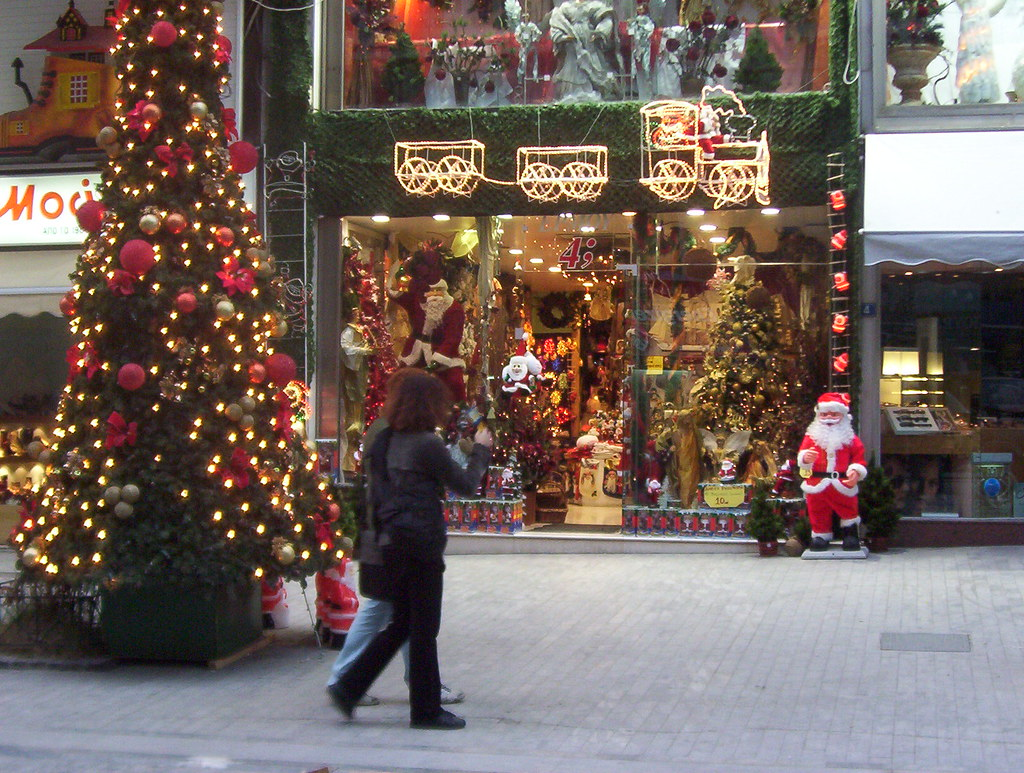 Christmas Store in Athens Greece