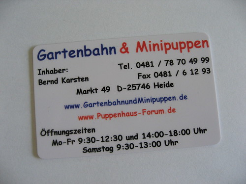 Business Card Using Comic Sans font