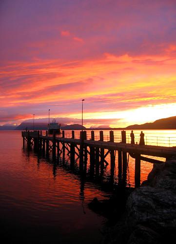 pink sunset sun color nature yellow norway ferry landscape interestingness purple peach explore fjord ferge vibrantcolors supershot fjord1 onlyyourbestshots aursneset excapture aursnesetmagerholm