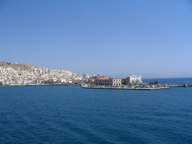Leaving the island of Syros