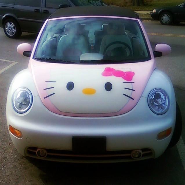 Pink Volkswagen Beetle >> Hello Kitty Beetle   Flickr - Photo Sharing!