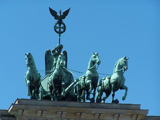 Image of  Gebhard von Blücher. horses sculpture horse berlin germany four gate iron cross von victory creativecommons napoleon tor brandenburger quadriga johann brandenburg chariot gottfried unedited schadow gebhard blücher