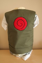 Chuunin vest without shoulder pads - back view